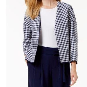 Anne Klein Plus Checker Print Jacket NWT